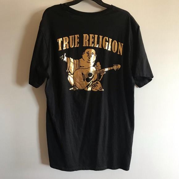 abfd26f8b857 True Religion Shirts | Xl Black Gold Big Buddha Logo Shirt | Poshmark